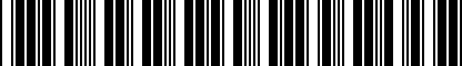 Barcode for 5G0054802