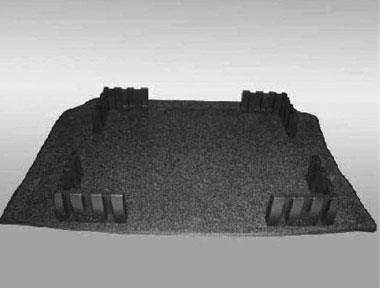 Diagram Heavy Duty Trunk Liner with Cargo Blocks – Gray (5C0061166A469) for your 2015 Volkswagen Beetle